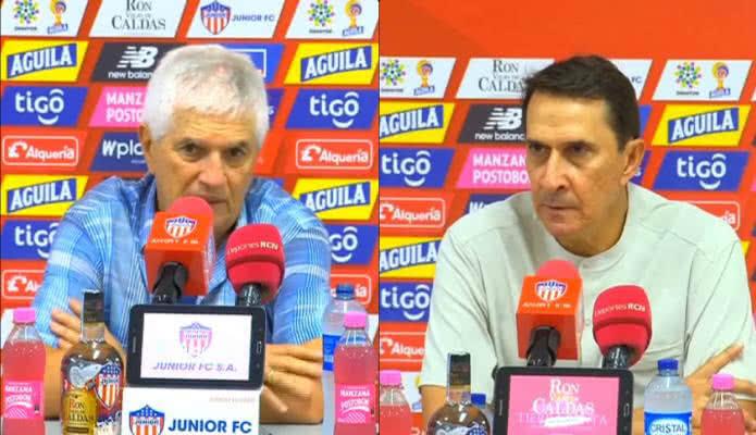 Impresiones de Julio Avelino Comesaña y Alexandre Guimaraes sobre la ida de la final de la Liga Águila 2019/2