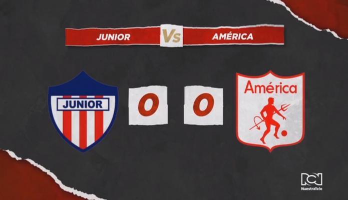 Atlético Junior y América de Cali dejaron la serie abierta y el campeón se definirá en el Pascual Guerrero