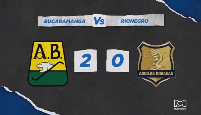Atlético Bucaramanga venció a Rionegro y obtuvo su primera victoria del campeonato