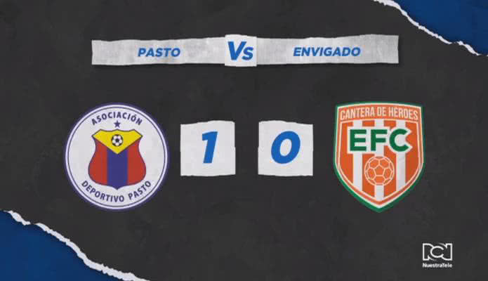 Deportivo Pasto derrotó a Envigado y sigue entre los cuatro primeros del campeonato