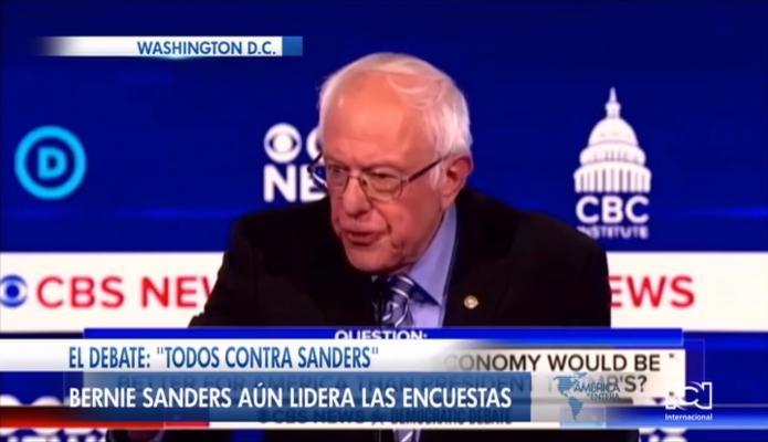 'Todos contra Bernie Sanders': precandidatos demócratas apuntaron sus críticas contra el líder de las encuestas
