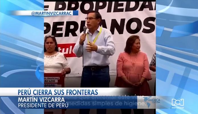 Presidente Martín Vizcarra decreta estado de emergencia en Perú por alerta de coronavirus