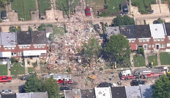 Explosión sacude un vecindario de Baltimore, en Estados Unidos