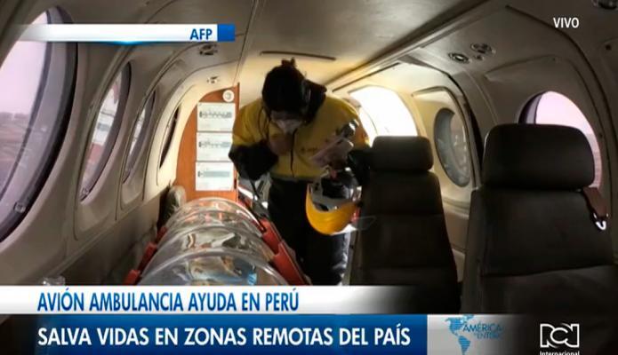 Avión ambulancia ayuda en Perú a salvar vidas en zonas remotas