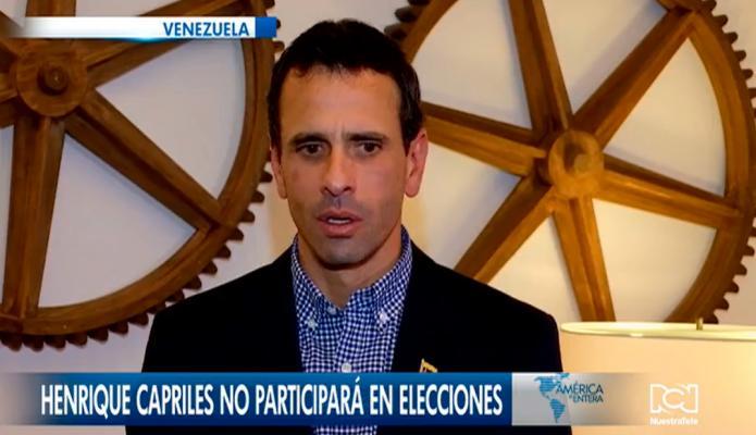 Henrique Capriles no participará en las elecciones presidenciales en Venezuela