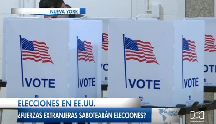 Elecciones en Estados Unidos, ¿fuerzas extranjeras sabotearán las elecciones?