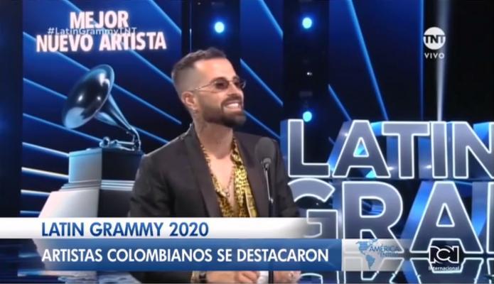 El talento colombiano dijo presente en los Premios Grammy Latino 2020