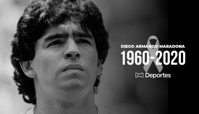 Murió el astro del fútbol Diego Armando Maradona
