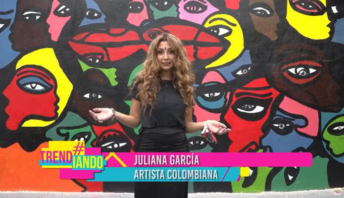 Juliana García llega con su extraordinario arte a Miami para pintar un hermoso mural