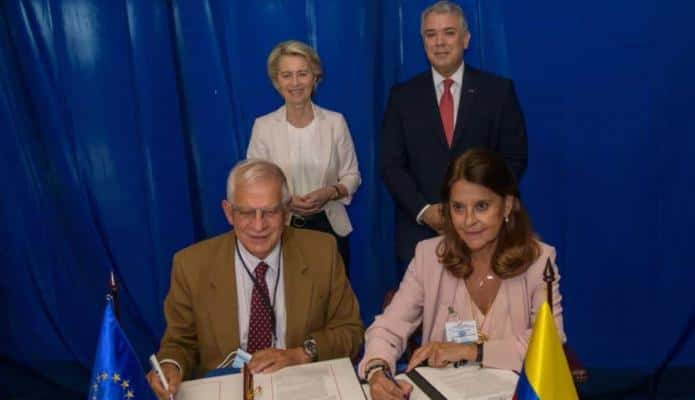 Colombia firma acuerdo con Unión Europea para fortalecer relación bilateral