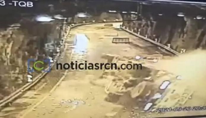 Así fue el momento de la explosión en el túnel de Quebrada Blanca