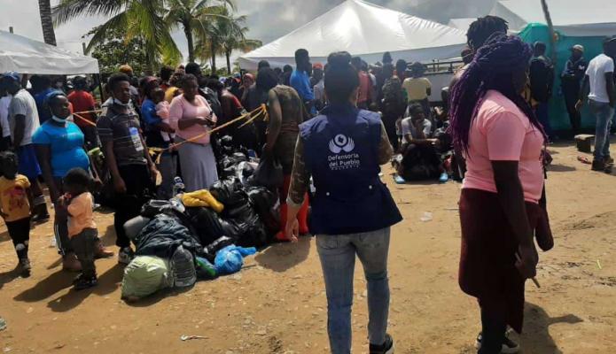 Ya son cerca de 19.000 los migrantes represados en Necoclí, Antioquia, según Defensoría del Pueblo