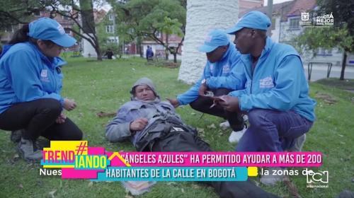 Aplicación 'Ángeles Azules' ha permitido ayudar a más de 200 habitantes de calle en Bogotá