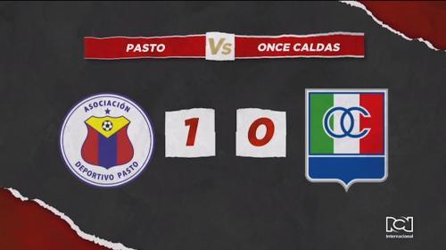 Deportivo Pasto venció por la mínima diferencia a Once Caldas y conservó su invicto como local