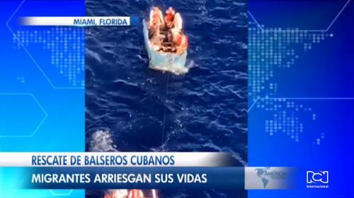 Filman el momento en el que un crucero de Roya Caribean rescata a un grupo de cubanos en altamar