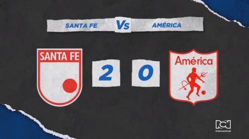 Independiente Santa Fe hizo respetar su casa y venció con ímpetu al América