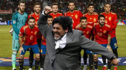 Diego Maradona, candidato para dirigir a España