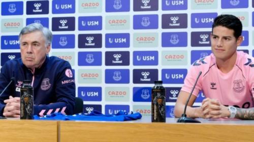 Ancelotti sobre la situación de James con Colombia y su presencia ante Fulham