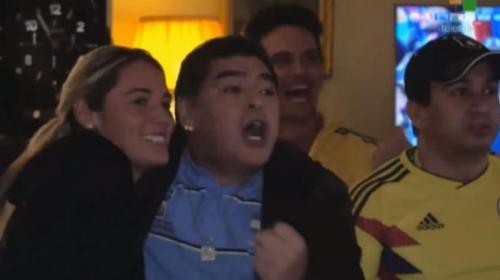 Así gritó Maradona el gol de Colombia a Inglaterra en el Mundial de Rusia 2018