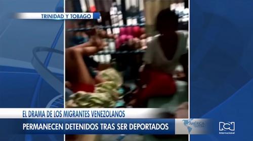 Venezolanos deportados por Trinidad y Tobago permanecen en un calabozo de la isla