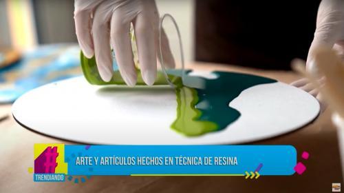¿Arte con resina? Ocobo nos muestra una técnica mixta con este material