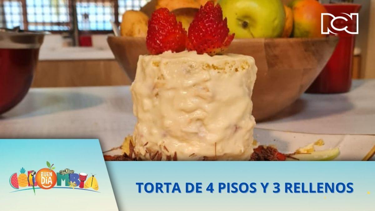 RECETA: TORTA DE 4 PISOS Y 3 RELLENOS