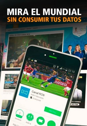 Adquiere un paquete RCN Fútbol y disfrútal el Mundial sin gastar tus datos