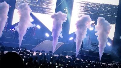 Un gran espectáculo  tuvo la noche del sábado Maluma en el Movistar Arena, en Bogotá.