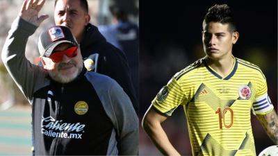 Maradona aprueba la llegada de James al Nápoli
