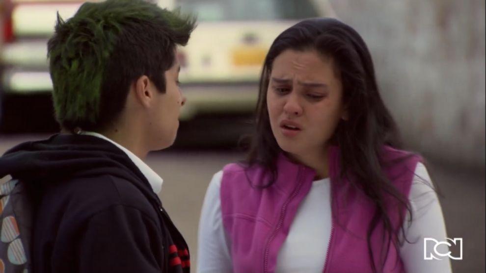Milena le dice a Jorge que está embarazada