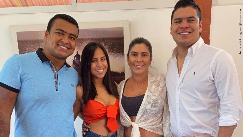Betsy Liliana González y sus hijos.