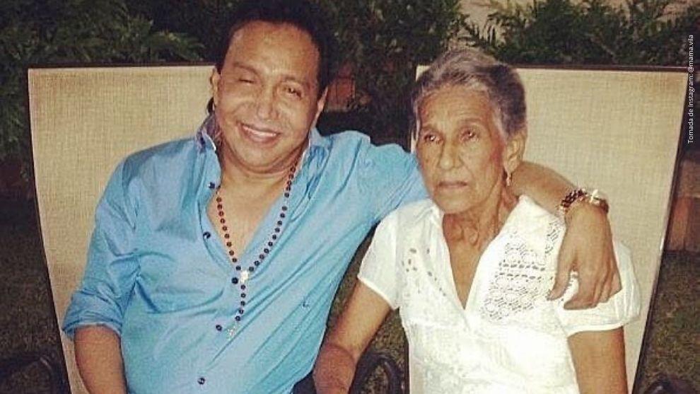 Diomedes Díaz y su madre, Elvira Maestre.