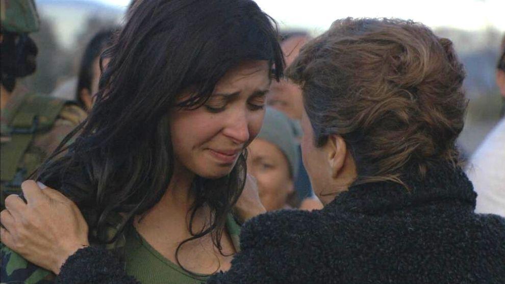 Lourdes se reencuentra con su mamá