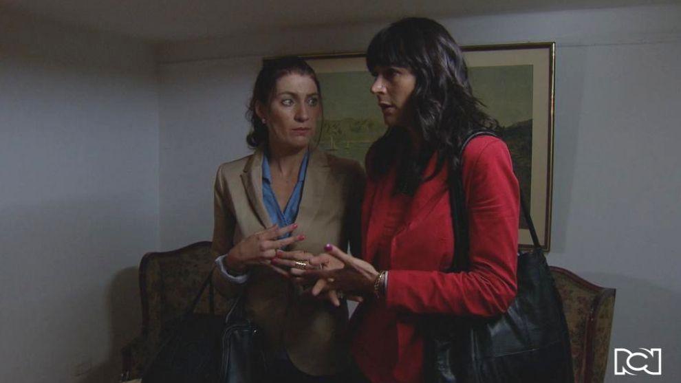 Andrea y Tatiana visitan a Martina