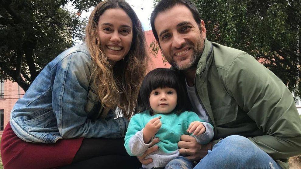 María Claudia Cueter, Emma Suárez y Andrés Suárez.