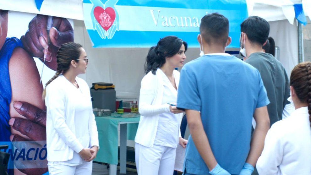 María Clara acepta coordinar la jornada de vacunación