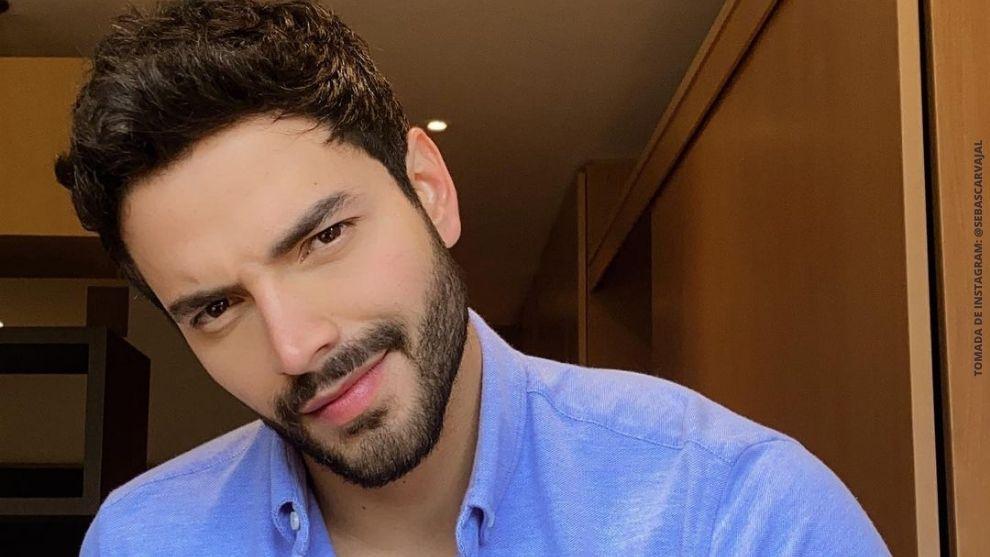 La foto de Sebastián Carvajal donde lo comparan con 'ángel'. (Tomada de Instagram)