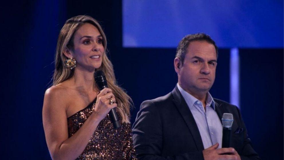 Karen Martínez y Mauricio Vélez en el inicio de las galas