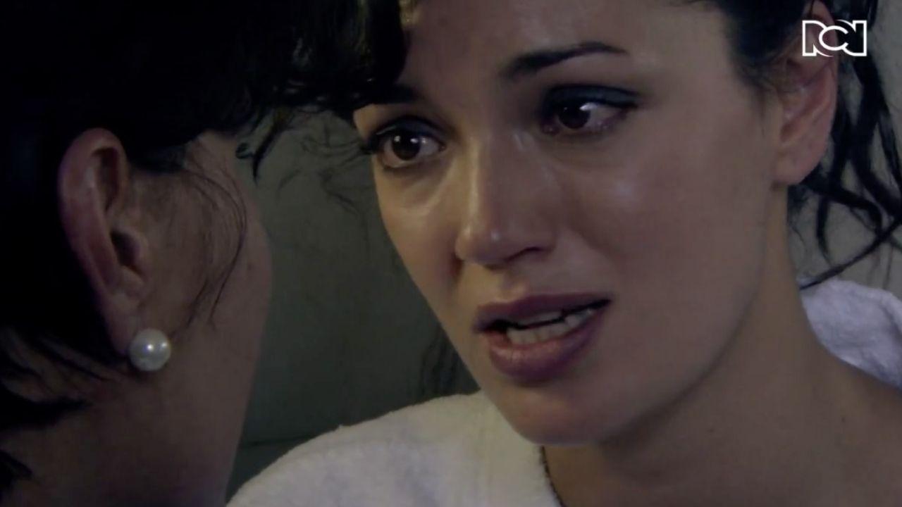 La emotiva despedida de Alicia y su mamá