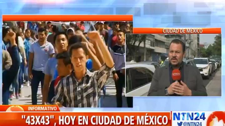 Jornada de movilizaciones en México en memoria de los 43 estudiantes desaparecidos
