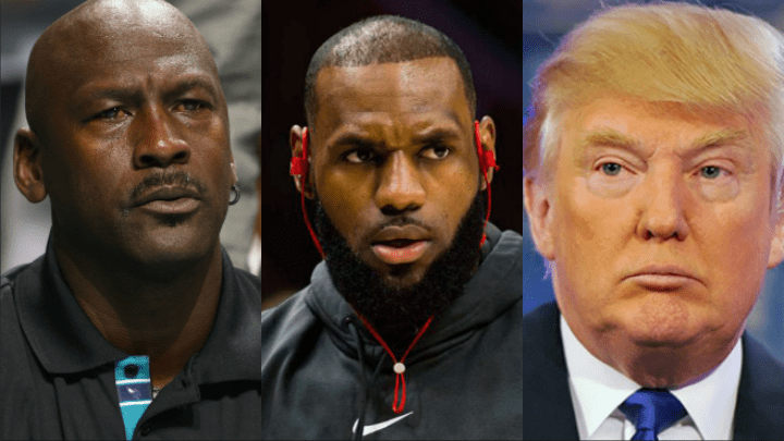 Michael Jordan, LeBron James y Donald Trump