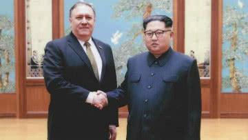 Portavoz de la Casa Blanca publicó fotos del encuentro entre Mike Pompeo y Kim Jong Un