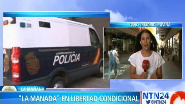 Justicia española confirmó la libertad condicional para 'La Manada'