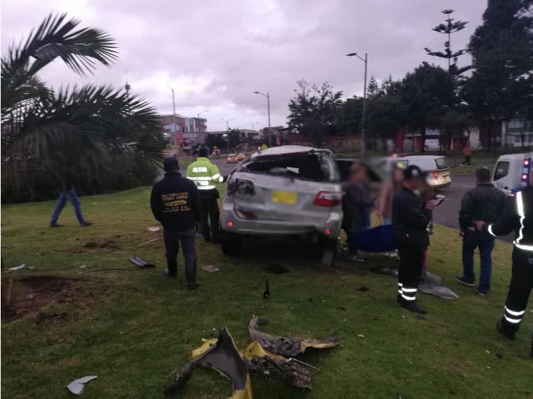 Accidente de tránsito en el occidente de Bogotá