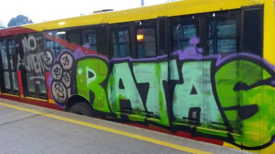 Transmilenio ve un graffiti y decide bajar el costo del transporte