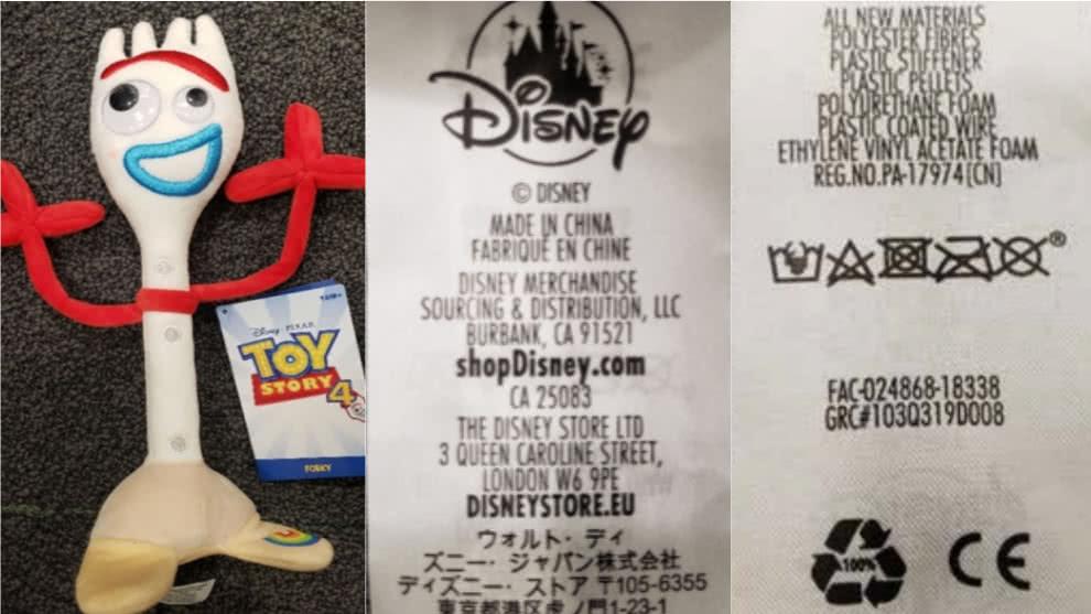 Disney retira del mercado a 'Forky', el muñeco de 'Toy Story 4', por riesgo de asfixia
