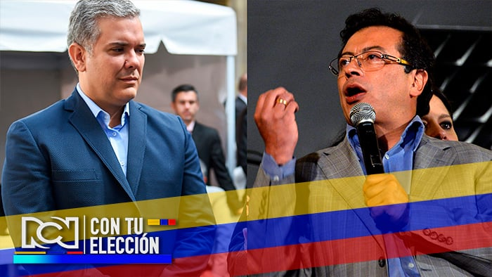 Foto: Iván Duque del Centro Democrático y Gustavo Petro del Movimiento Alternativo Indígena y Social - NoticiasRCN.com