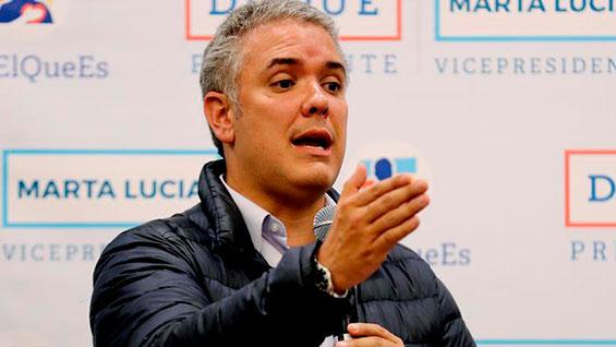 Ivàn Duque, presidente electo de Colombia. Foto: EFE/Leonardo Muñoz