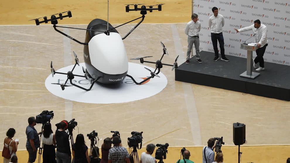 España presenta el primer prototipo de aerotaxi sin piloto