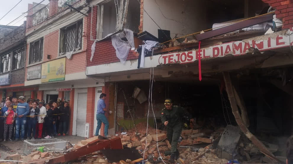 Explosión en occidente de Bogotá afectó 17 edificaciones cercanas